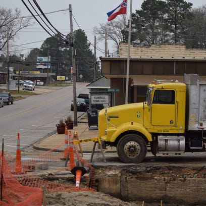 Sumrall is working to alleviate some of the flooding