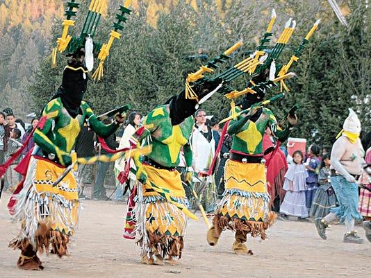 The Mountain Gods spirits are celebrated in a Mescalero Apache parade.
