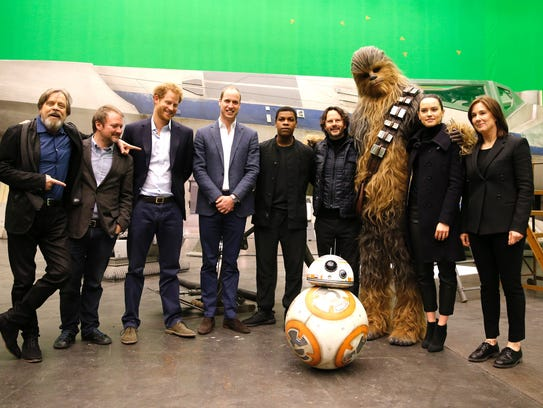 Mark Hamill, director Rian Johnson, Prince Harry, Prince