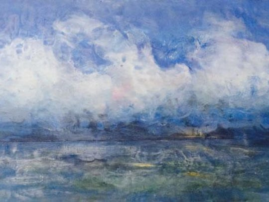 Lake Michigan Blues, along with other pieces by Leslie