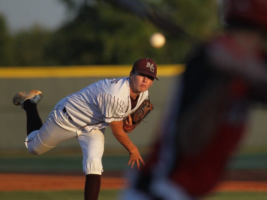 Madison County's Drew Herring pitches against Lafayette during last year's regional final.