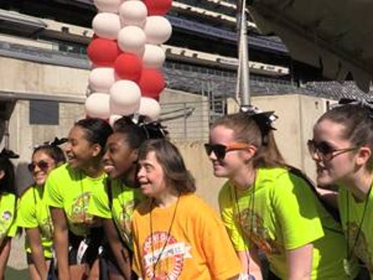 The sixth annual Walk With Me Fundraiser and Me Fundraiser and 5K Run was at MetLife Stadium in East Rutherford on April 18. More than 100 volunteers supported this year's event, including Mary Help of Christians Academy cheerleading team.