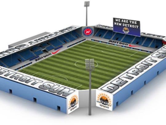 Detroit Sun FC  stadium project calls for a modular