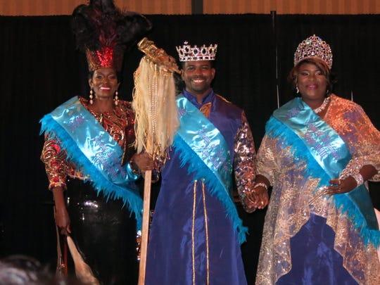 Krewe Harambee Captain Sharon Braggs, King XVIII Zaid