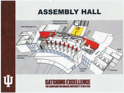 A rendering of proposed renovations of Assembly Hall.