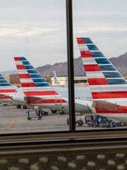 American Airlines at the gate at Phoenix Sky Harbor