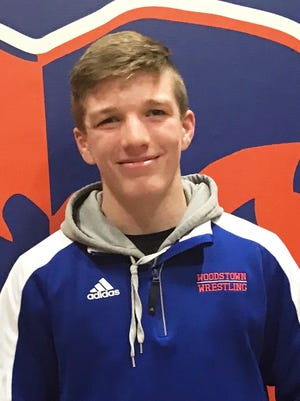 Woodstown senior 138-pound wrestler Travis Layton.
