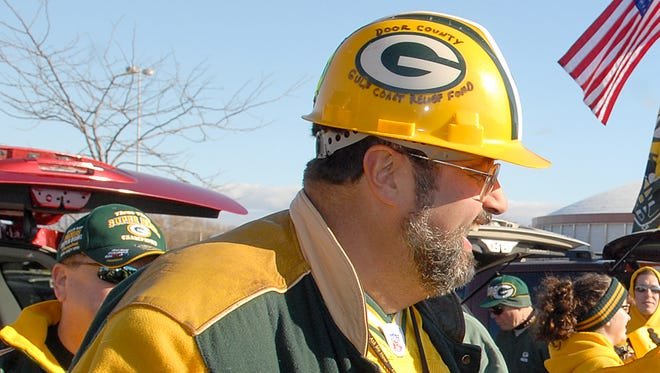 Pete D'Amico during a tailgate party before a Packers game at Lambeau Field in 2007.