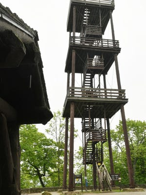 May: The Eagle Tower at Peninsula State Park between Fish Creek and Ephraim is closed due to structural safety concerns of the 76-foot tower. The current tower was built in 1932 to replace the original tower built on Eagle Bluff in 1914.