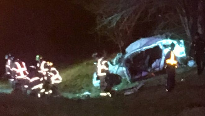 A rollover crash Friday morning at milepost 270 on northbound Interstate 5.