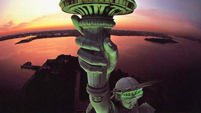 """Liberte mon Amour"" is a signature image of Hockessin photographer Peter Kaplan, taken by mounting a camera on a pole and holding it out from the Statue of Liberty's torch."
