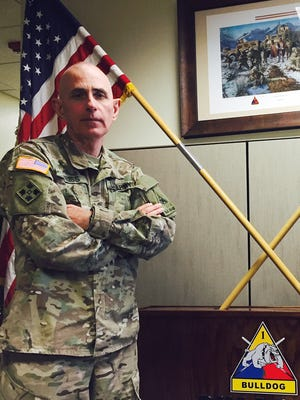 Command Sgt. Maj. Terry Weiss relinquished his position as the senior enlisted leader for 3rd Armored Brigade on Dec. 18.