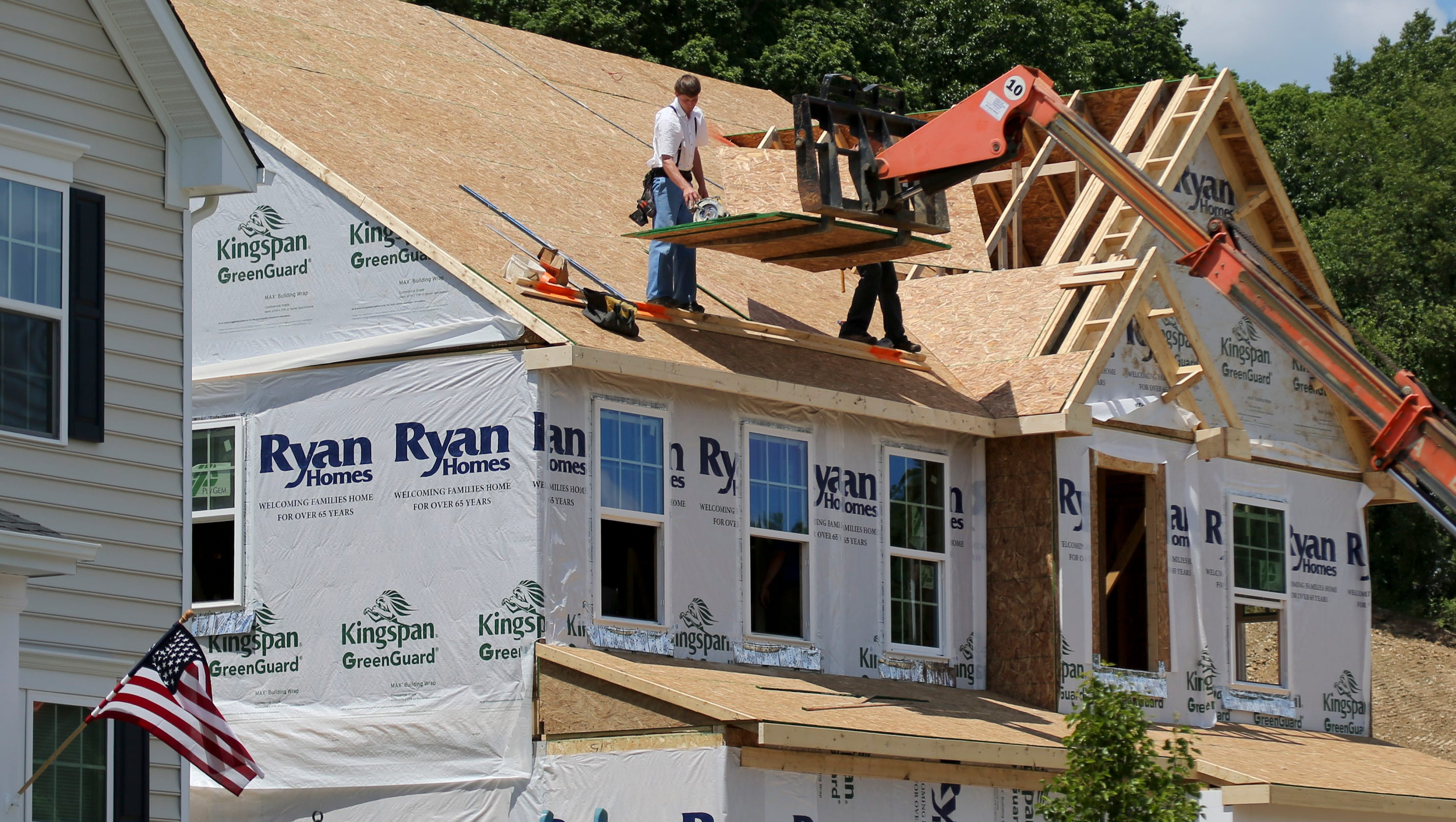 U s housing starts rebounded in june first gain in 3 months for Butler building house