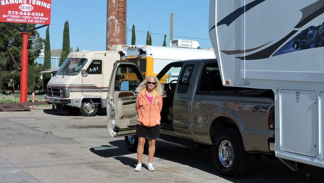 Kathy Weesie is ready to head back home after a breakdown on I-10.