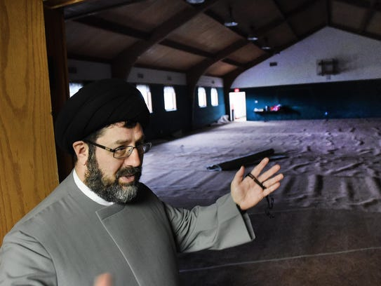 Imam Hassan Al-Qazwini gives a tour tour of the new