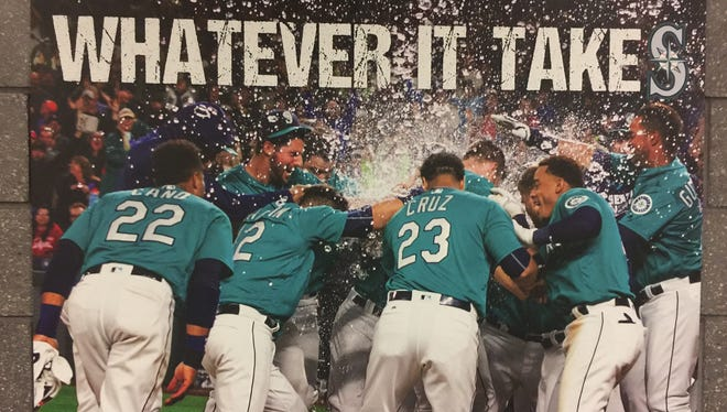 When the Mariners arrived at spring training, they found this sign posted throughout their clubhouse at the Peoria Sports Complex.