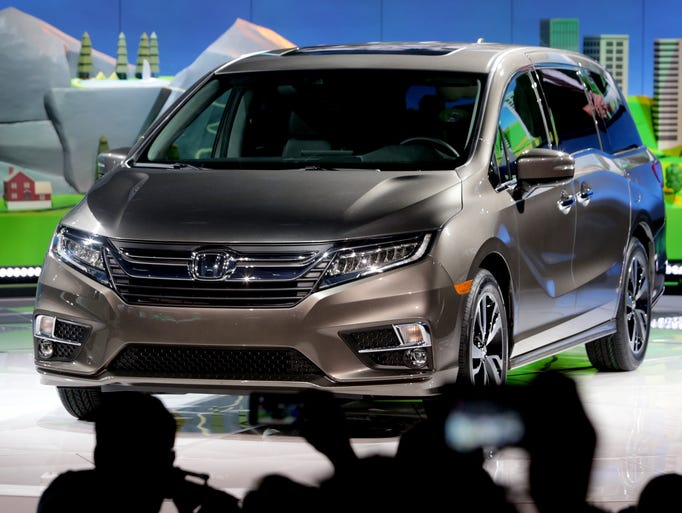The 2018 Honda Odyssey is introduced to the media during