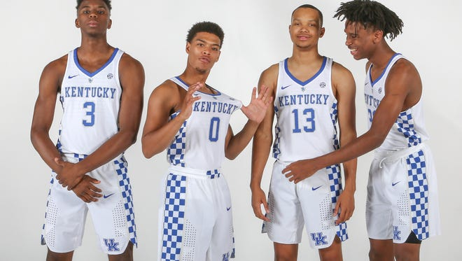 Kentucky guards Hamidou Diallo, Quade Green, Jemarl Baker and Shai Gilgeous-Alexander. 