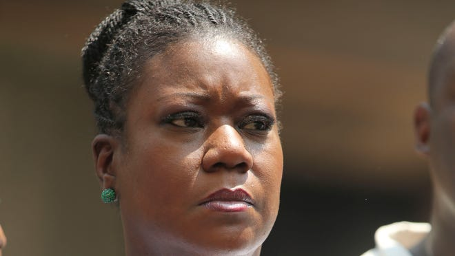 "Sybrina Fulton, mother of Trayvon Martin, attends a""Justice for Trayvon"" rally in New York on July 20."
