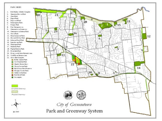 Germantown Parks map