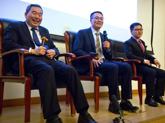 From left, Poo Muming, director of the Institute of