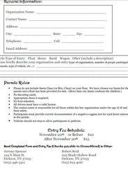 Parade Entry Form