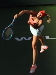 Maria Sharapova of the Russian Federation during her