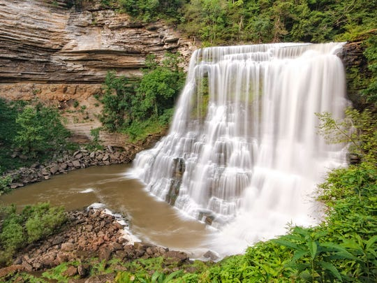 Burgess Falls State Park in Sparta, Tenn., is a famously picturesque destination, featuring four cascading waterfalls rushing down 250 feet into a gorge.