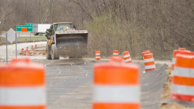 Work continues on Whitmore Lake Road between Eight Mile and Nine Mile roads in the final phase of construction.