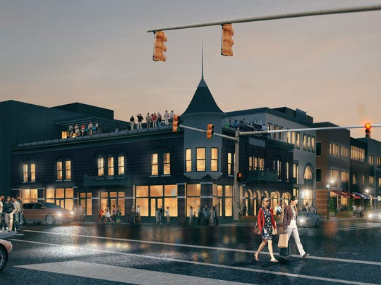 Rendering of Wagner Place, a mixed-use development
