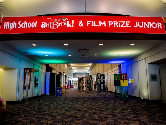 The first day of the Film Prize Jr. Festival at the 2017 ArtBreak in the Shreveport Convention Center.