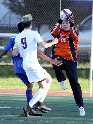 Port Chester defeated Ossining 5-2 in a varsity soccer game at Ossining High School Oct. 14, 2016.