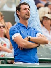 Patrick Mouratoglou in attendance for Serena Williams'