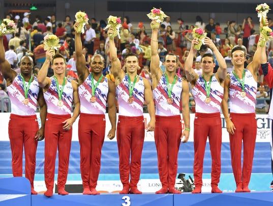 United States wins bronze at men's gymnastics world ...