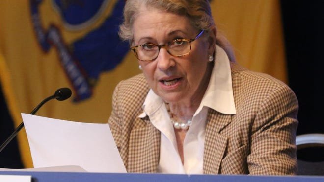 NJ Department of Health Commissioner, Judy Persichilli announces the details of daily statistics during Governor Phil MurphyÕs daily press conference discussing COVID19 at the War Memorial in Trenton, NJ on June 5, 2020.