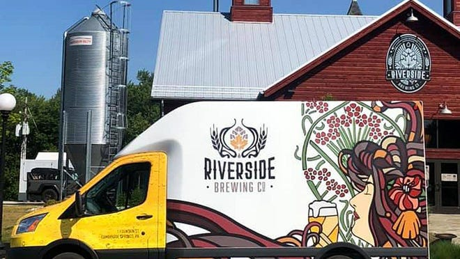 Riverside Brewing Co. got a fancy new paint job on its truck, which you might see hauling the outfit's beer up to Erie from Cambridge Springs.