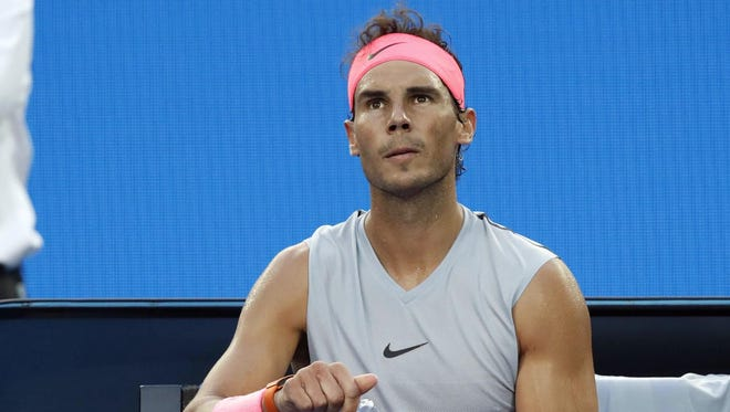 Rafael Nadal was forced to retire during the Australian Open quarterfinals and hasn't played since.