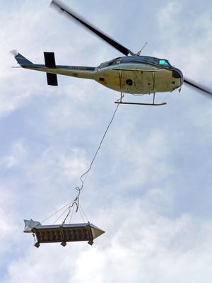 Helicopters will drop thousands of fish into Oregon's high mountain lakes this week.
