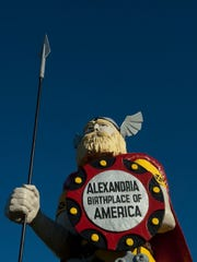 The Big Ole roadside statue in Alexandria.
