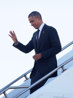President Obama arrives in Brisbane, Australia.