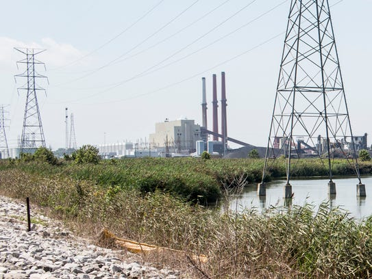 August 22, 2017 - The Allen Fossil Plant is seen over