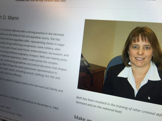 Lawyer Elizabeth Mann, as shown on her online profile