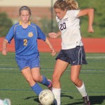 Taylor Watts of Notre Dame Academy, right, is one of the Pandas' top returners.