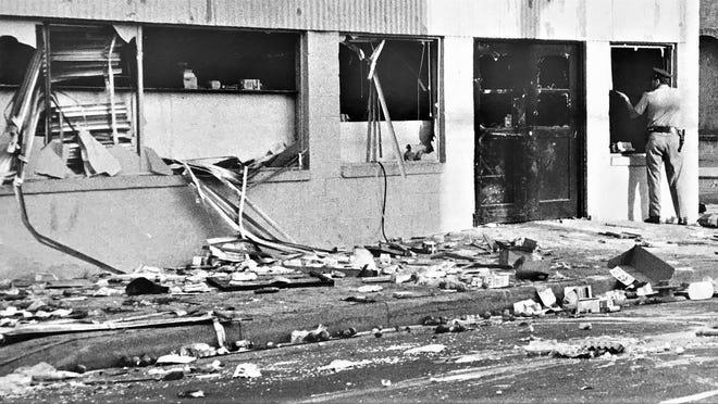 Destruction evident following 1970 riots.
