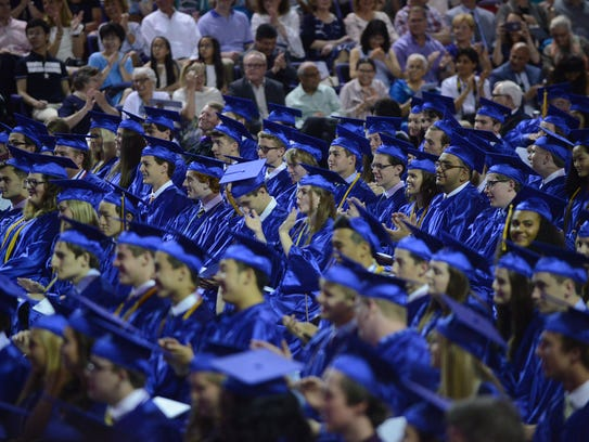 The Brentwood High School graduation ceremony for the