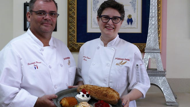 Christophe Molitor and Jacqueline Dittmore recently celebrated two years of serving authentic French baked goods at Jacqueline's Bakery in downtown Melbourne.