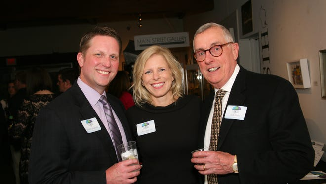 Mark and Lori Langholz and Jack Hale were among the many attendees at last year's gala to support the Cedarburg Cultural Center.