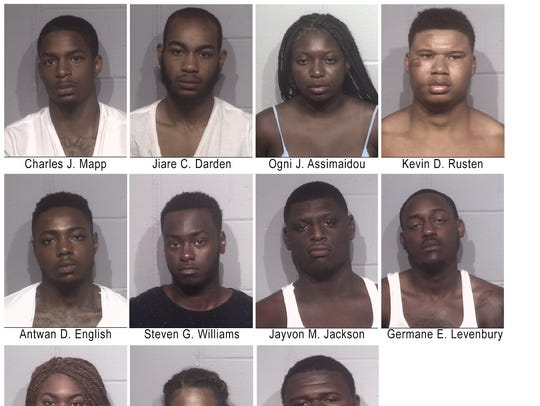 12 individuals were arrested on Saturday, July 23 and