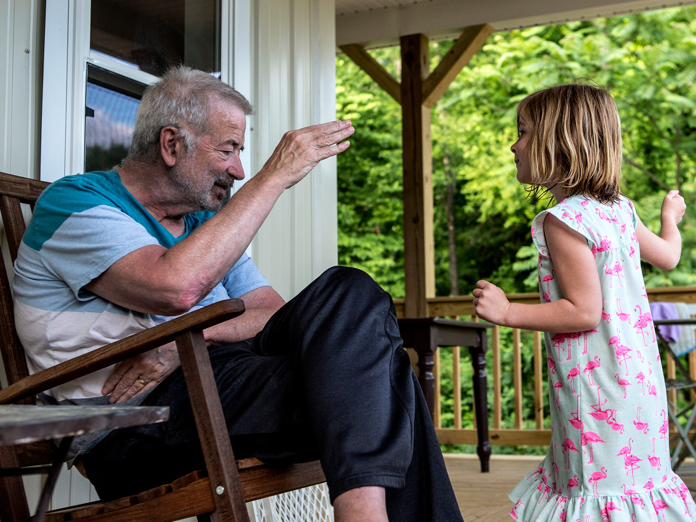 Five-year-old Reese often loses patience with her Grandpa