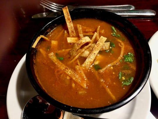 Tortilla soup at Cicada.
